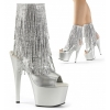 ADORE - 1024RSF Silver Fringe Faux Leather